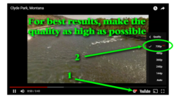 How to get high resolution videos in two clicks...